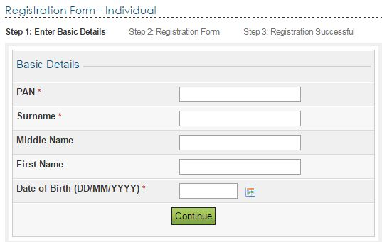 Register with Income Tax Website | How to register pan with