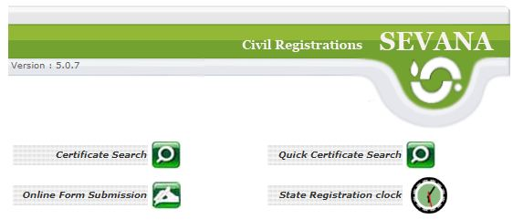 Kerala Civil Registration Seva online
