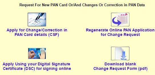 PAN Card correction - Change online UIITSL