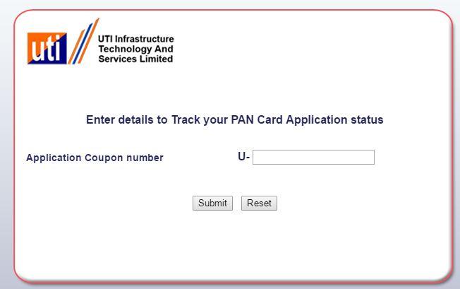 Utiitsl Pan Card Status Online How To Check Utiitsl
