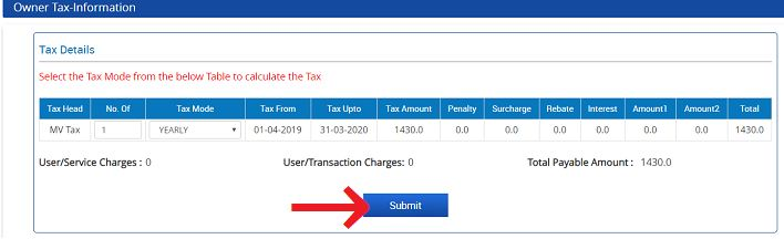 Pay Motor Vehicle tax online